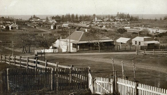 Corner of Barney and Shoalhaven Streets at the time Joseph Cooper enlisted.