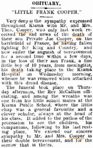 Kiama Independent. 19th August 1916.