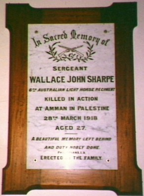 Memorial inside Congregational Church, Gerringong