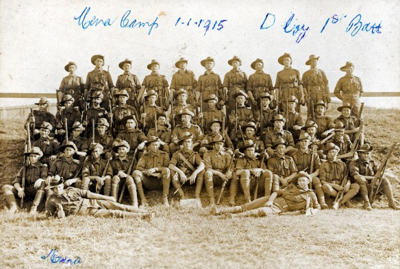 1st Battalion at Mena Camp (Cairo, Egypt) on 01-01-1915.