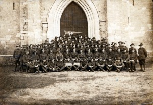 """C & D"" Comapny, 14th Battalion AIF.  ""Xmas - New Year 1918-1919."""