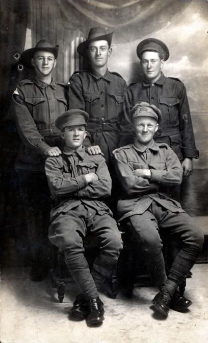 Frank Pugh, back left. Fred Pugh, front right.