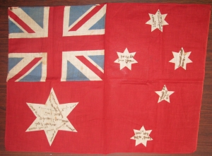 Flag belonging to Private Edward William Stewart of Kiama.