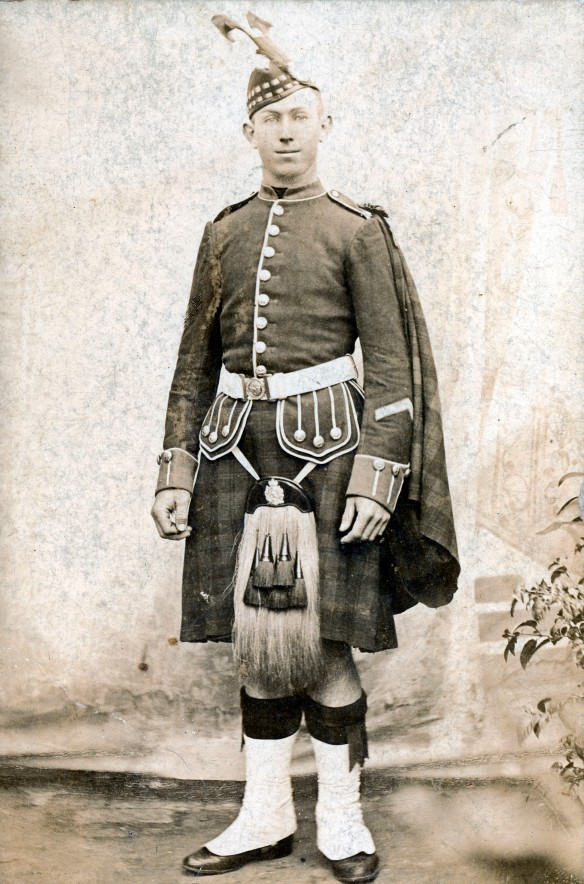 John Richardson wearing NSW Scottish Regiment uniform.