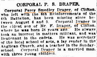 Sydney Morning Herald: 11/09/1915.