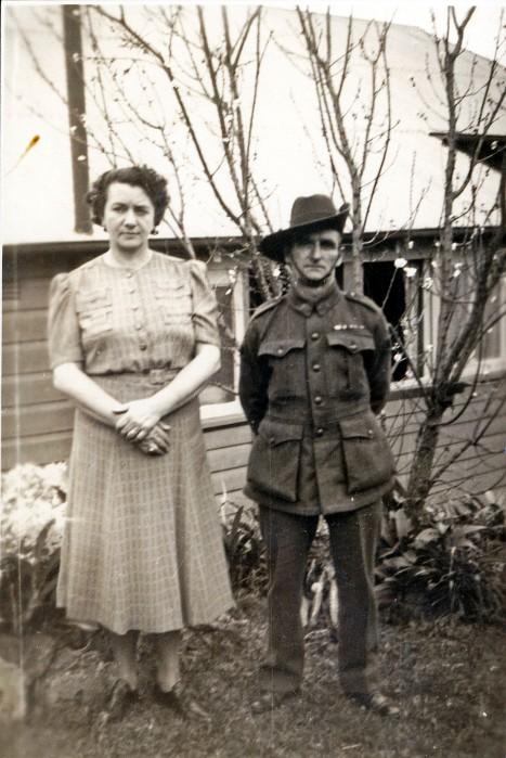 Vera left, Oliver right. c1940.