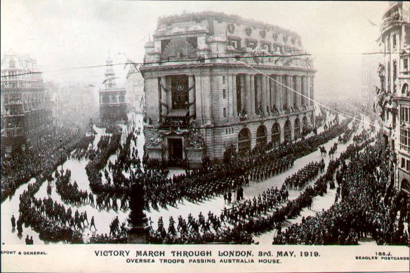 Victory March through London. 3 May 1918.