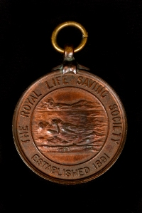 Surf Life Saving medal awarded to Charles Irwin.