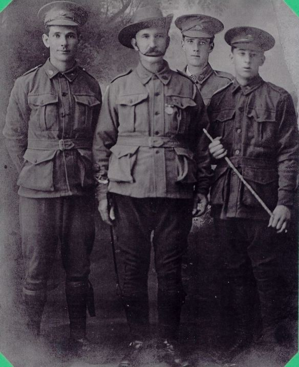 Irwin family (left to right). William McIntosh Irwin, Thomas Kennedy Irwin Snr, Thomas Kennedy Irwin Jnr, Charles Duff Irwin.