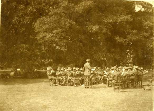 19th Battalion Band. Playing in South of England following the end of the First World War.