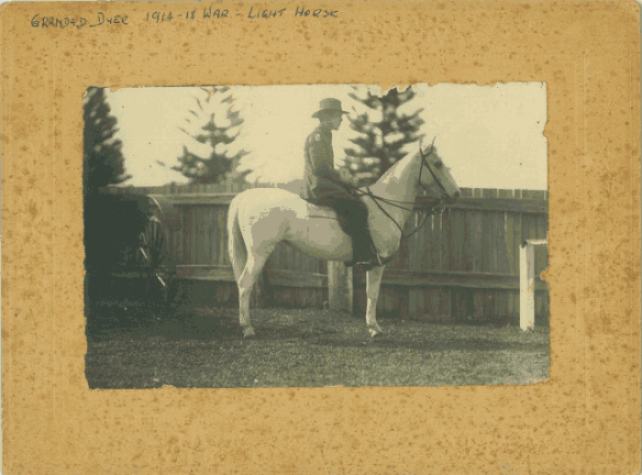 Martin Luther Dyer on his horse.